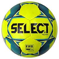 Мяч футбольный SELECT Team FIFA (016) желт/син, размер 5, фото 1