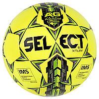 Мяч футбольный SELECT X-Turf IMS желтый, размер 5