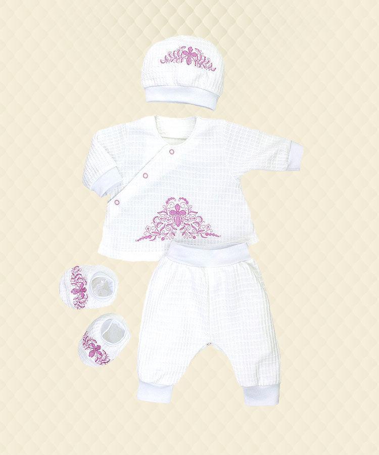 Комплект Хрестильний для дівчинки футер/жатка