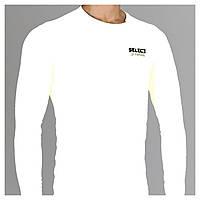 Термобельё SELECT Compression T-Shirt with long sleeves 6901 белый размер L