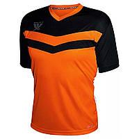 Футболка футбольная Swift Romb CoolTech (н.оранж/черная)