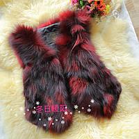 Меховой жилет чернобурка лиса  6 цветов супер цена