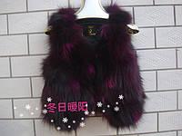 Меховой жилет чернобурка лиса  6 цветов супер цена, фото 1