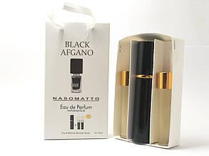 Подарочный парфюмерный набор с феромонами унисекс Nasomatto Black Afgano (Насоматто Блэк Афгано) 3x15 мл
