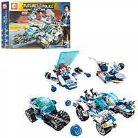 Конструктор для детей Sembo SD9676 Future Police, (Аналог Lego) транспорт, фигурки, 543 дет. в кор, 5*33*7см