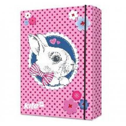 Папка для зошитів картонна KITE К17-210-01 В5 на гумці Cute Bunny (1/9), фото 2
