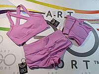 Комплект для танцев, шорты и топ, наколенники для танцев