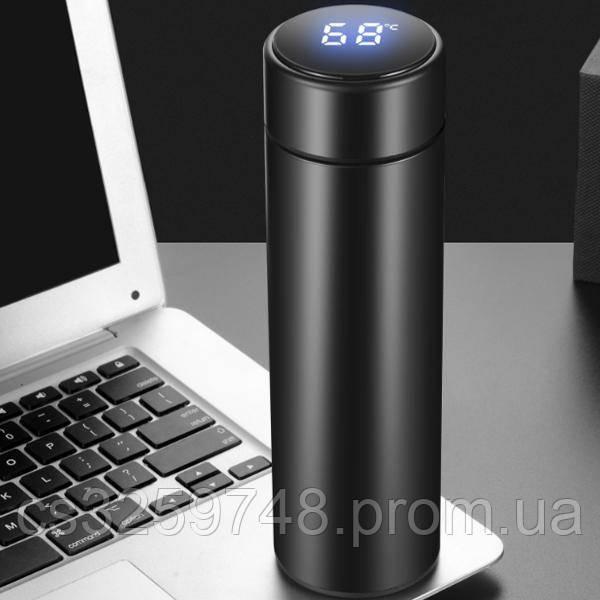 Вакуумний термос IPRee 500мл з LCD індикатором температури Black