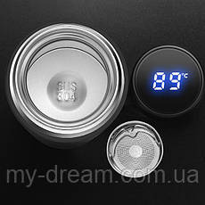 Вакуумный термос IPRee 500мл с LCD индикатором температуры Black, фото 2