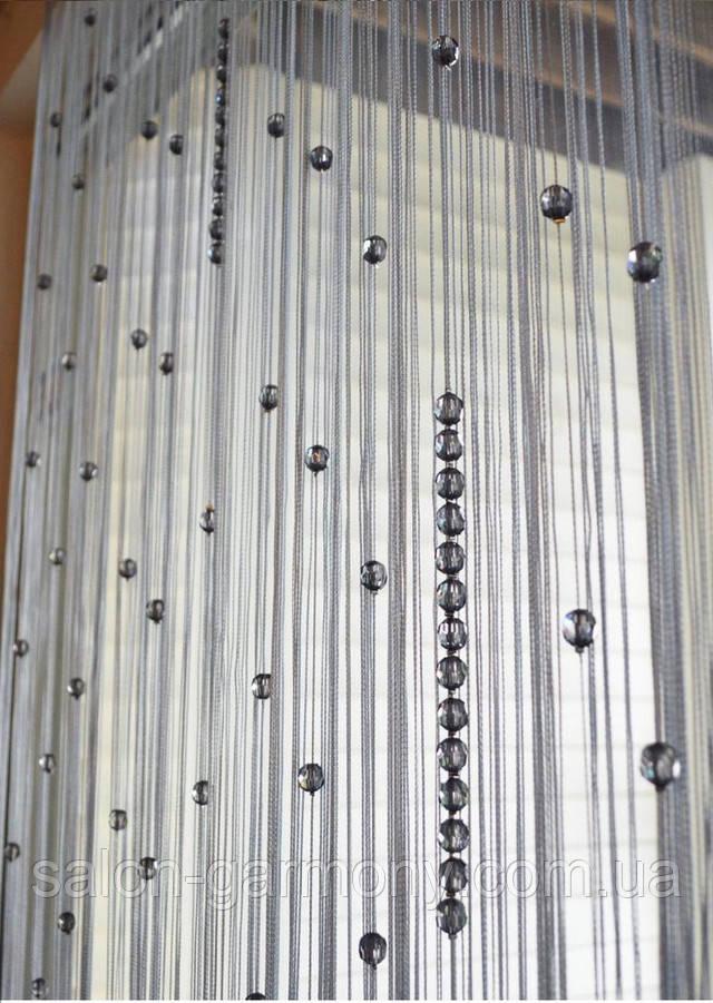 Шторы нити дождь со стеклярусом фото