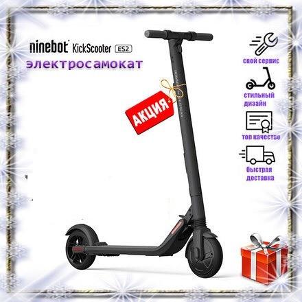 Электросамокат Ninebot KickScooter ES2 1.5 черный 2019 года