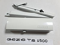 Доводчик дверной GEZE TS 1500 с ножницами белый оригинал Германия