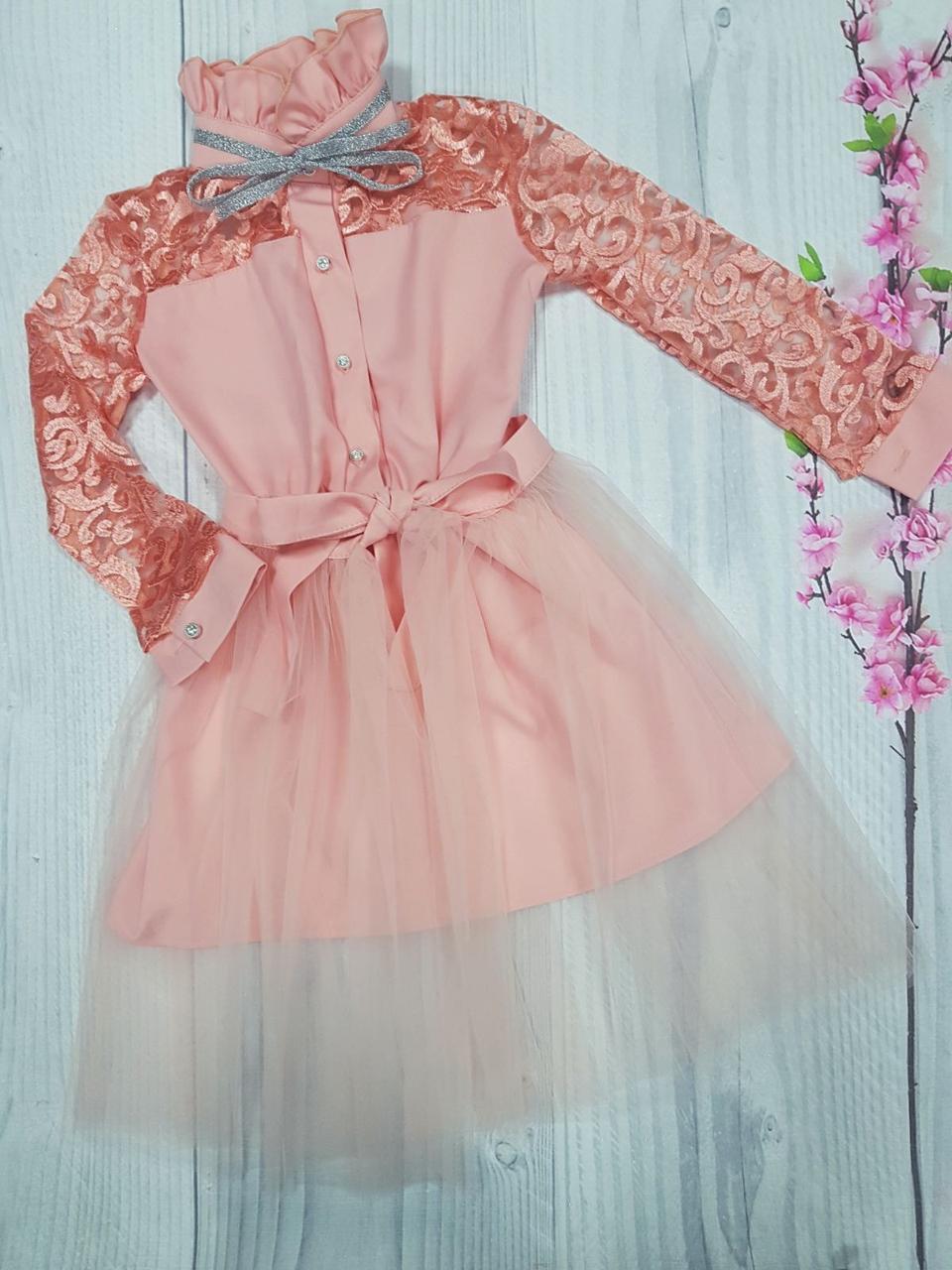 Подростковое платье для девочки нарядное  р.140-152 опт