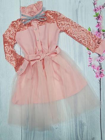 Подростковое платье для девочки нарядное  р.140-152 опт, фото 2