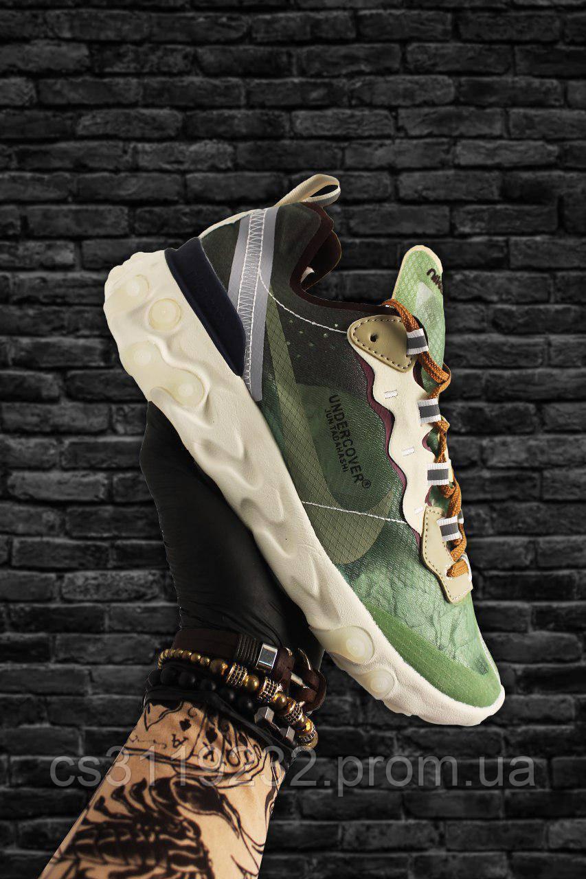 Мужские кроссовки  Nike React Element 87 Green White (зелёный/белый)