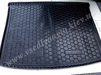 Коврик в багажник Volkswagen Caddy с 2004 г. короткая база (AVTO-GUMM) пластик+резина