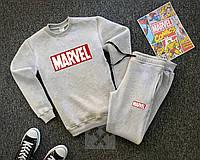 Трикотажный спортивный костюм Marvel серого цвета