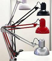 Настольная лампа для мастера маникюра на струбцине E 27 Max 40 Вт.(Черный цвет)