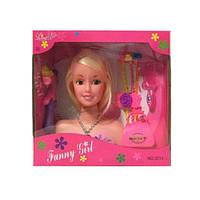 Кукла  голова для причесок 20см,косички,плойка,расческа,сумочка