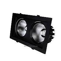 Светодиодный светильник 36Вт SC36WK BL черный 4200К карданный