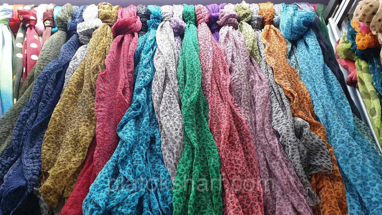 Женские шарфики - шарфы жатка меланж «Узорчик»