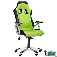 Кресло AMF Форсаж №6 черный/зеленый 521225