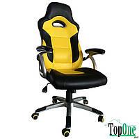 Кресло AMF Форсаж №7 черный/желтый 521799