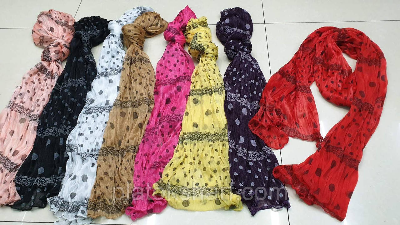 Шарфы женские, шарфик Жатка «Узорный» 150*45 см