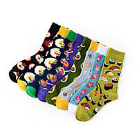 Прикольные мужские носки с принтом Пончики, фото 3