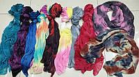 Шарфы жатка с «Меланж», шарфики Цветные 150*45 см