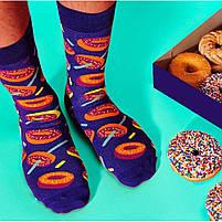 Прикольные мужские носки с принтом Пончики, фото 2