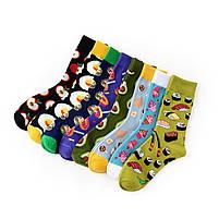 Прикольные мужские носки с принтом Бургеры, фото 2