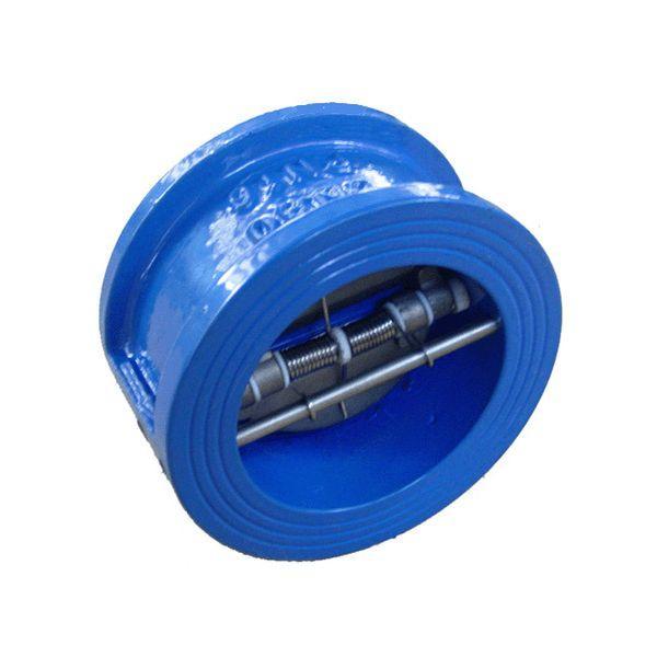 Клапан обратный межфланцевый Ду 50 двухлепестковый подпружиненный