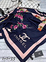 Шелковая шаль Chanel с ручной обработкой в коробке