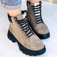 Замшевые натуральные ботинки, фото 1