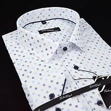 Сорочка чоловіча, прямого покрою з довгим рукавом Fabrik Style T2496V2 100% бавовна 43(Р)