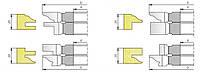 Фрезы для изготовления мебельных фасадов с остеклением и термошвом М-086 (5фрез)