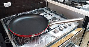 Чугунная сковорода Fabiano P 280 BLACK-RED 28 см (Турция)