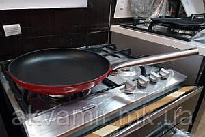 Чавунна сковорода Fabiano P 250 BLACK-RED 25 см (Туреччина)