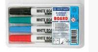 Набор маркеров сухостираемых 4шт Centropen  8559/4/CB