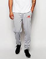 Спортивные штаны Нью Беланс на манжете, мужские штаны New balance трикотажные на любой сезон, реплика