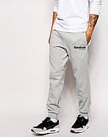 Спортивные штаны Рибок на манжете, мужские штаны Reebok трикотажные на любой сезон, реплика