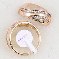 Кольцо с фианитами Размер 19,20 медзолото, медицинское золото