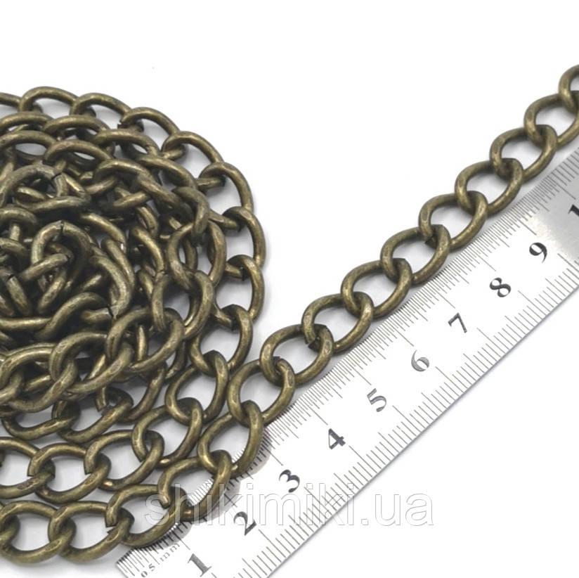 Цепочка для сумки крупная Z01-4, цвет антик