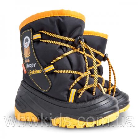 Зимові чобітки (зимние дутики) Demar Happy eskimo жовті