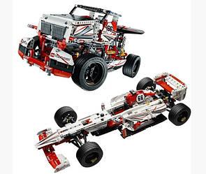 Конструктор JiSi bricks Technic 3366 Гоночный автомобиль Formula-1 - 1141 дет.