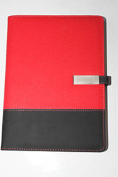 Блокнот ежедневник со встроенным POWER BANK павербанк проводной зарядкой