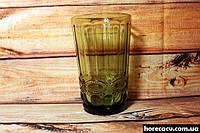 """Набор зелёных высоких стаканов для напитков """"Изумруд"""" 6 шт 350 мл (6441)"""