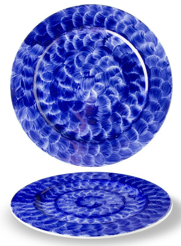 Тарелка мелкая - 24 см, Синяя (G.Benedikt) Indigo