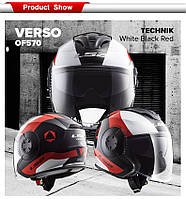Мотошлем LS2 OF570 VERSO TECHNIK RED  Оригинал, фото 1